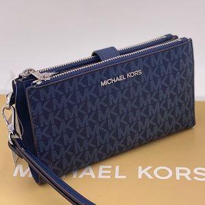 Michael Kors Wallet Phone Wristlet Double Zip